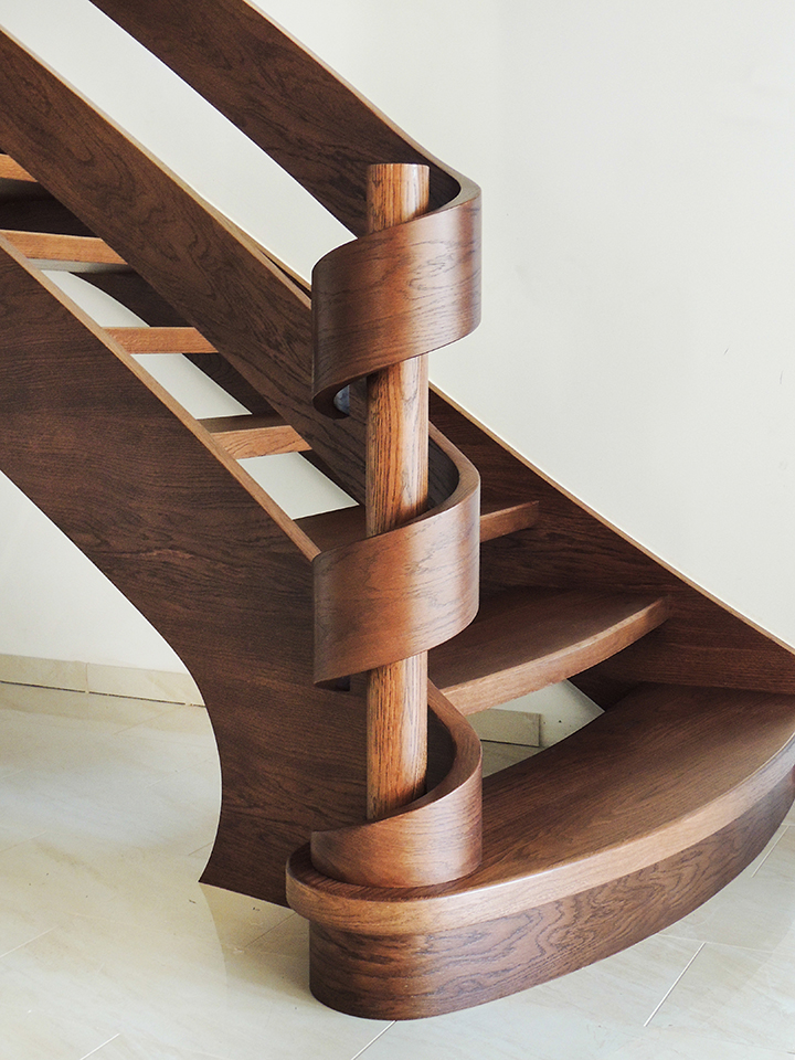 03 schody drewniane WOLNOSTOJĄCE