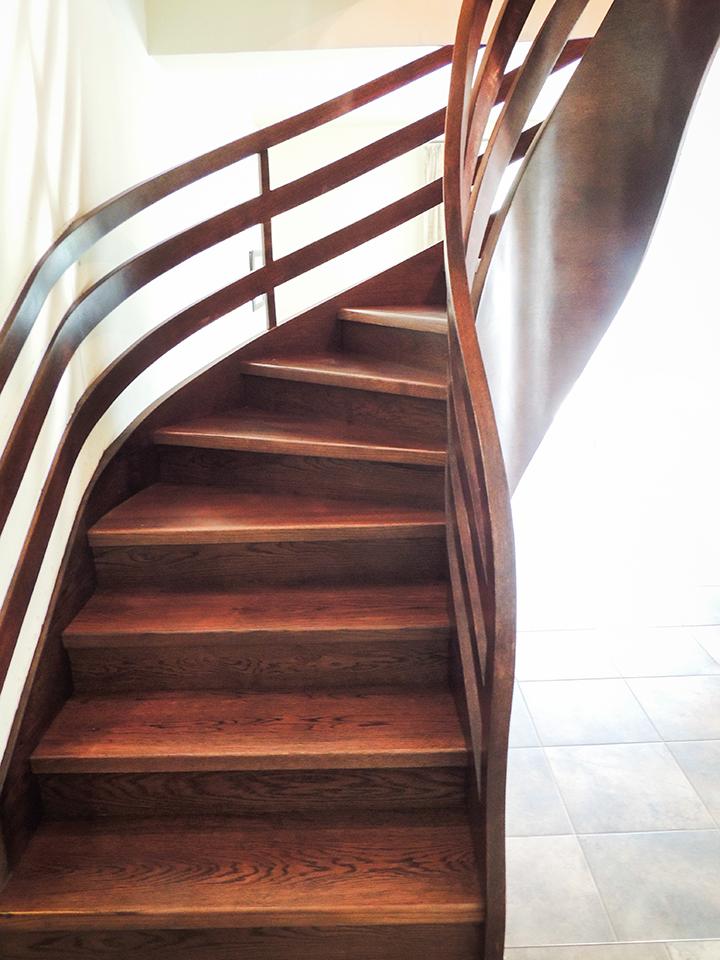 05 schody drewniane NA BETON
