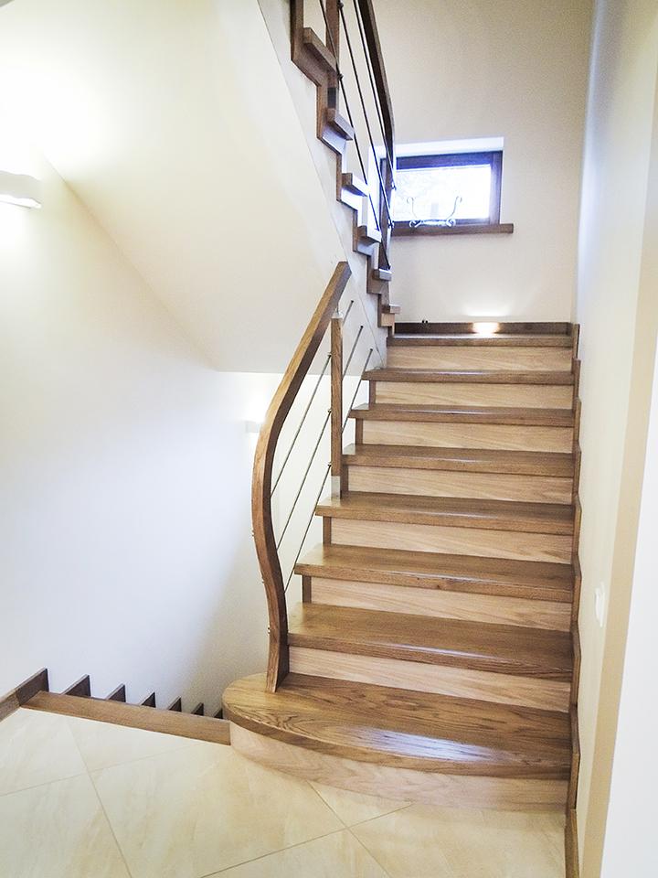 06 schody drewniane NA BETON