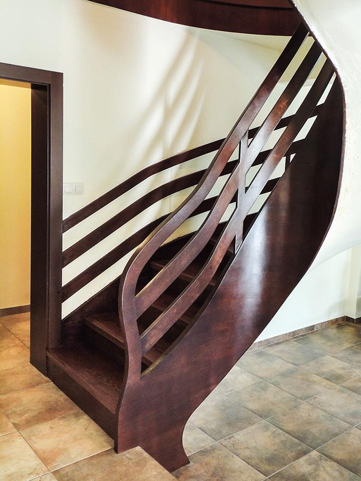 07 schody drewniane NA BETON