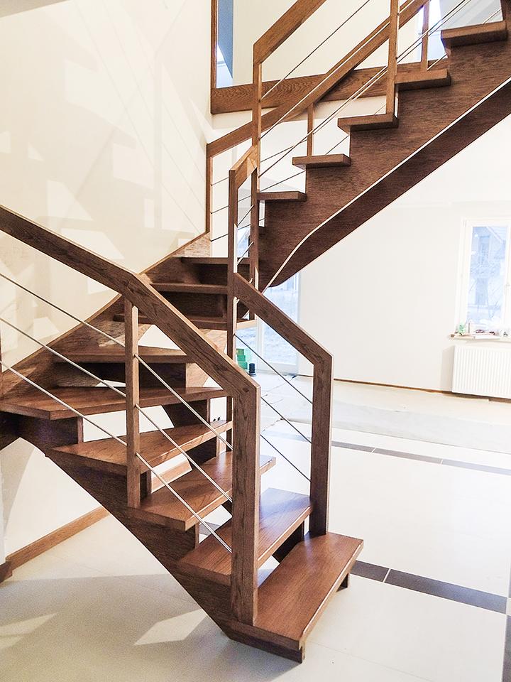 08 schody drewniane WOLNOSTOJĄCE