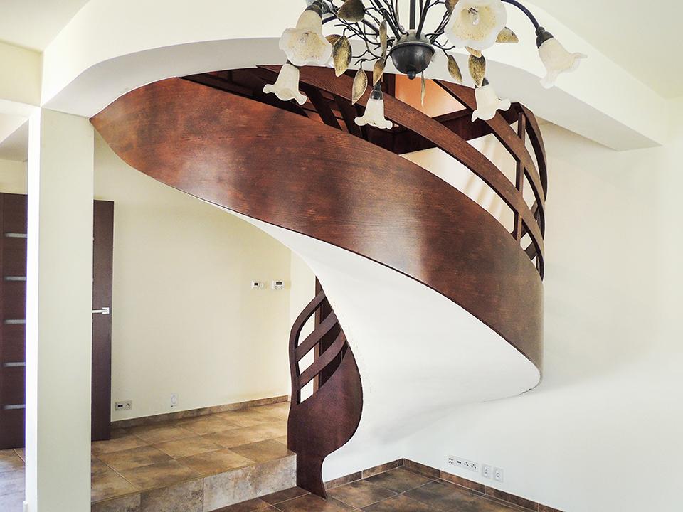 10 schody drewniane NA BETON