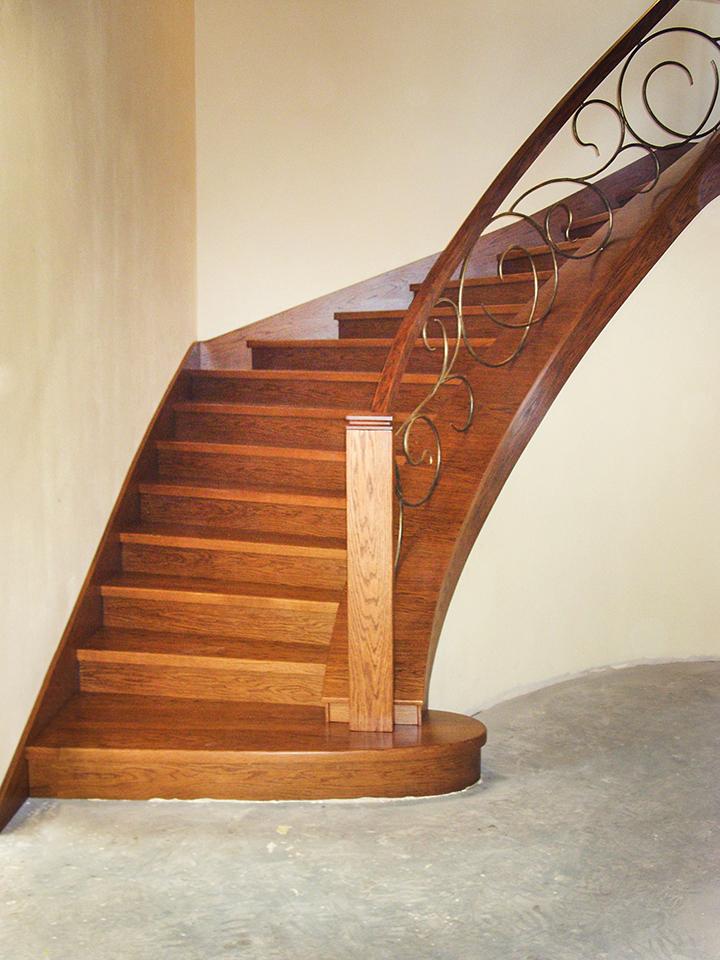 11 schody drewniane NA BETON