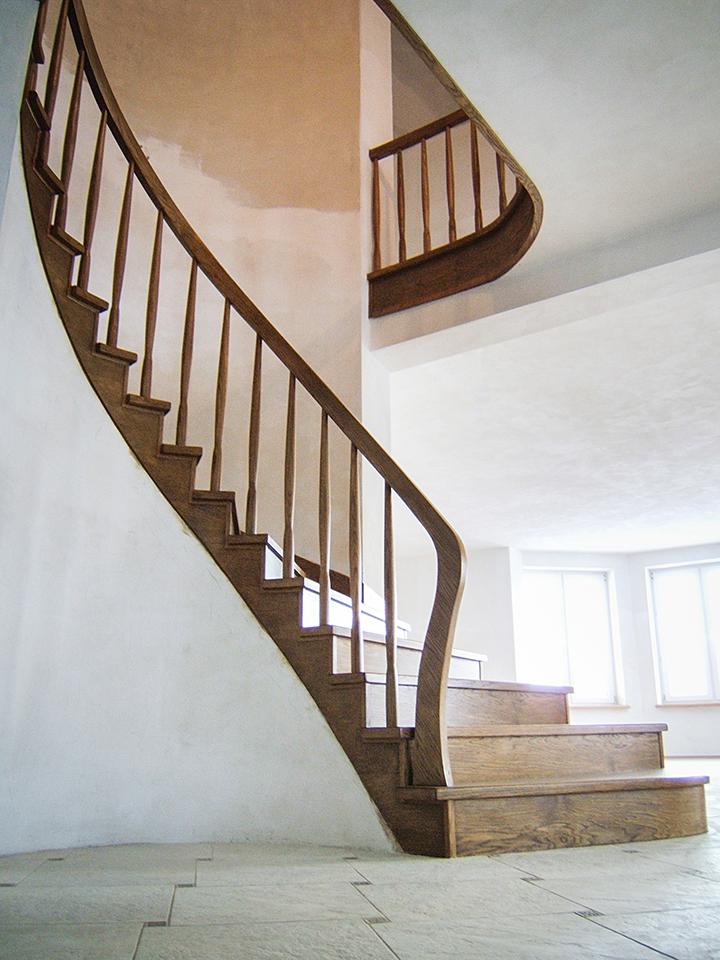 12 schody drewniane NA BETON