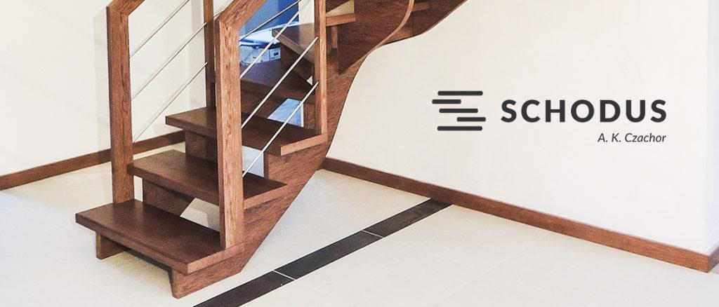 wolnostojące schody drewniane SCHODUS
