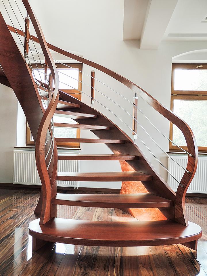 67 schody drewniane GIĘTE SCHODUS