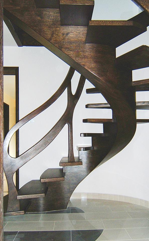 20 schody drewniane GIĘTE SCHODUS