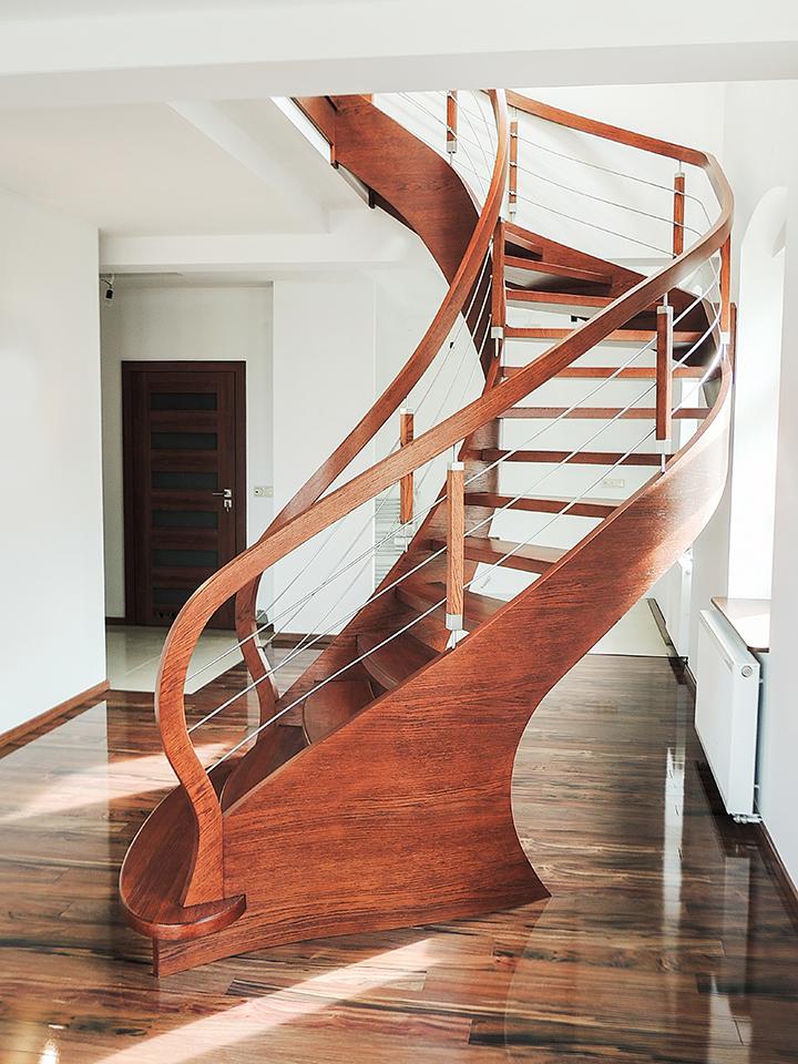 71 schody drewniane GIĘTE SCHODUS