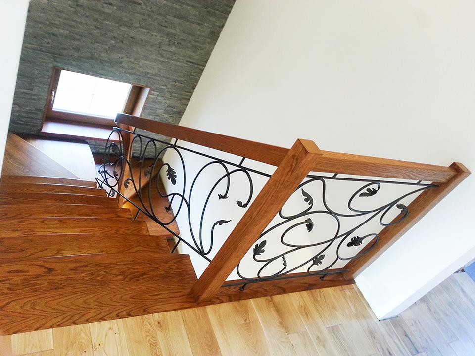 50 schody drewniane GIĘTE SCHODUS