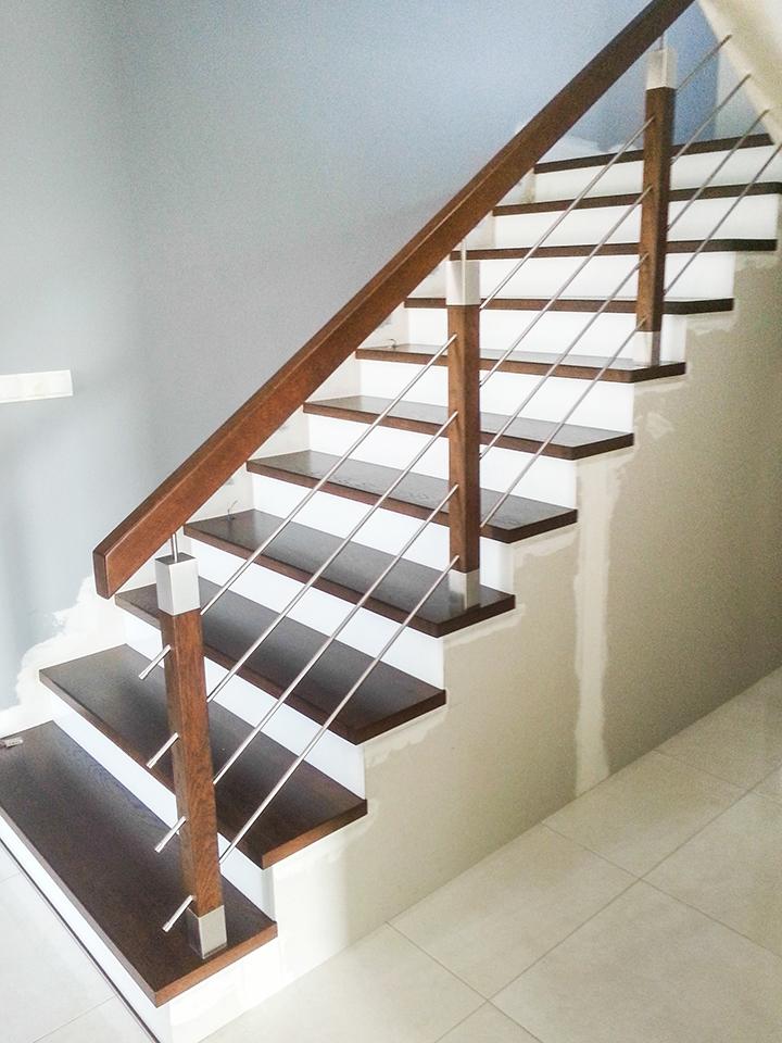15 schody drewniane NA BETON