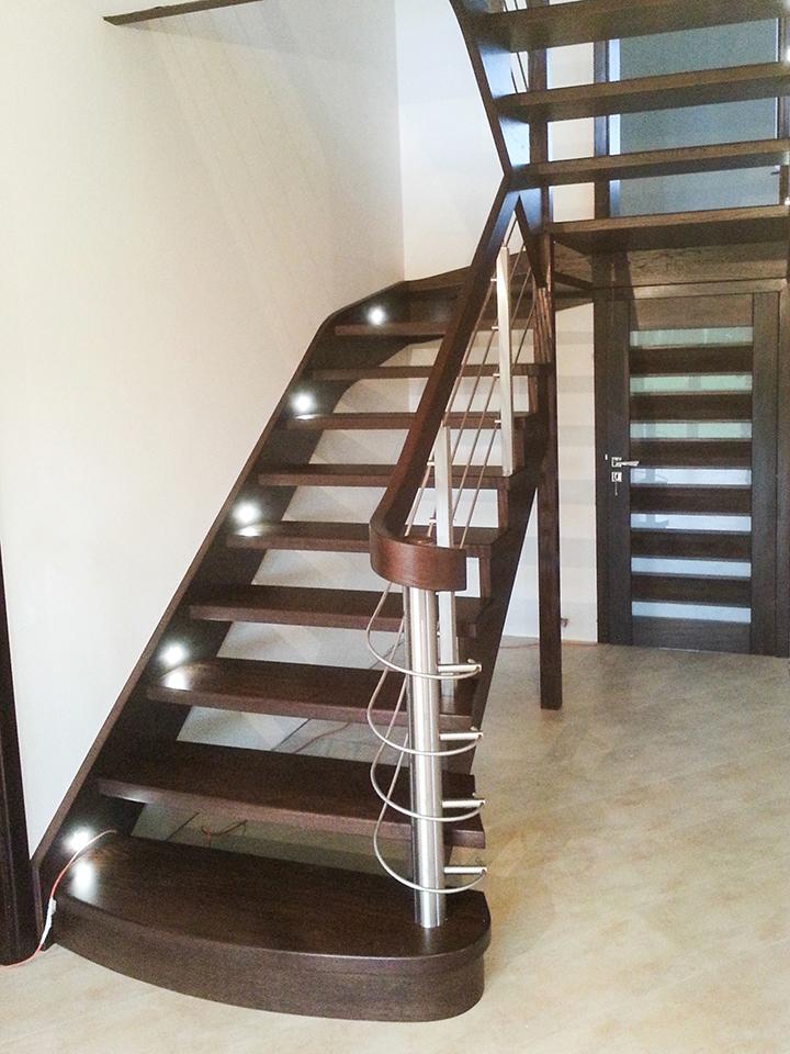 33 schody drewniane WOLNOSTOJĄCE