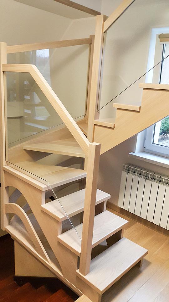 20 schody drewniane WOLNOSTOJĄCE