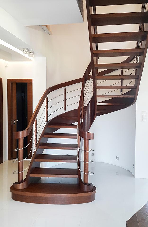58 schody drewniane GIĘTE SCHODUS
