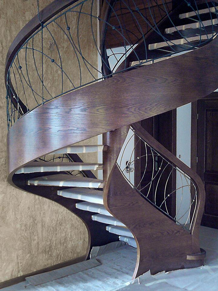 10 schody drewniane GIĘTE SCHODUS