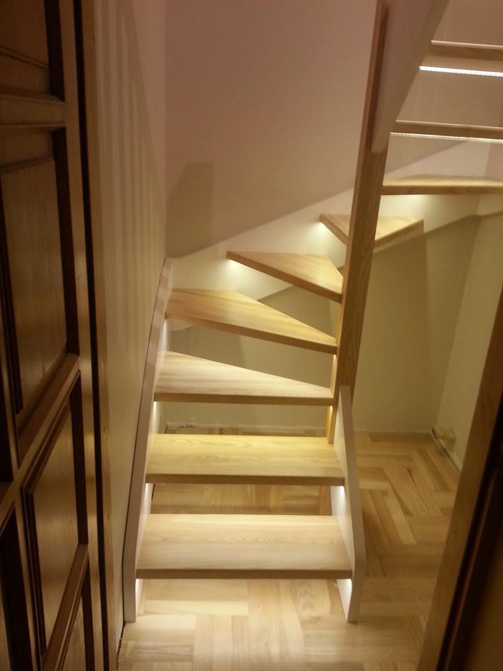 15 schody drewniane WOLNOSTOJĄCE
