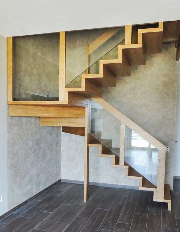 10N schody drewniane NOWOCZESNE