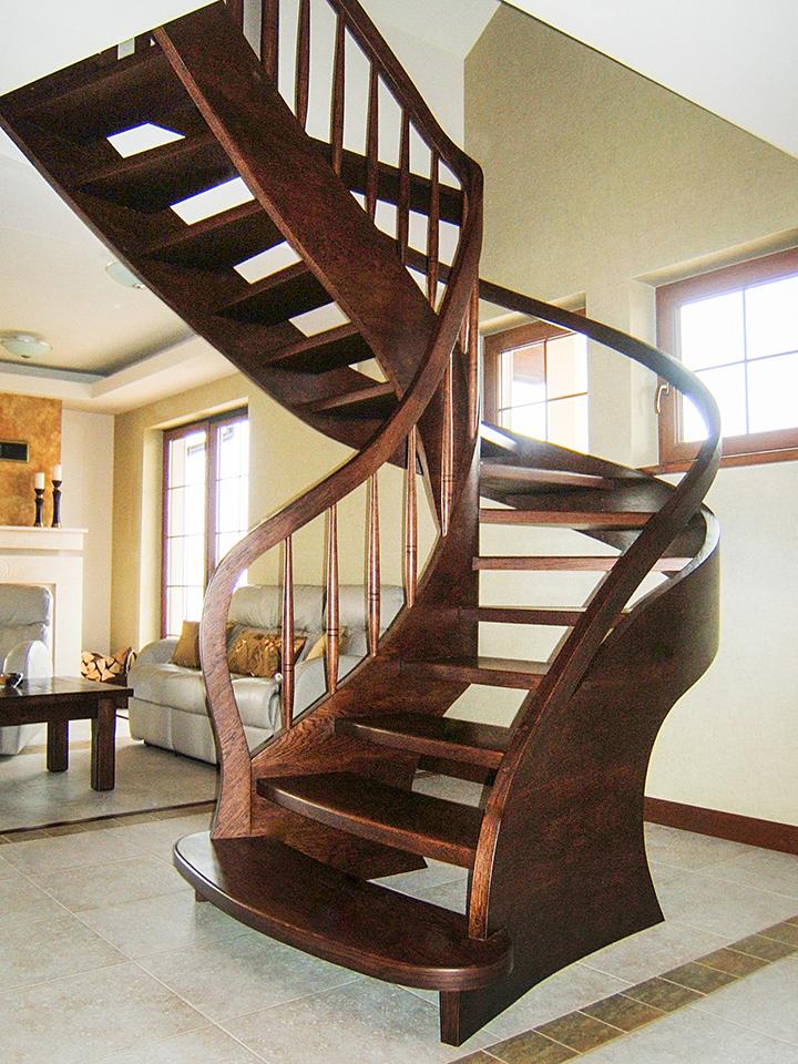 13 schody drewniane GIĘTE SCHODUS