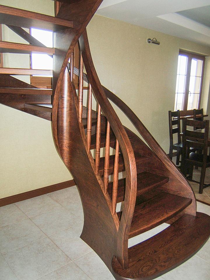 15 schody drewniane GIĘTE SCHODUS