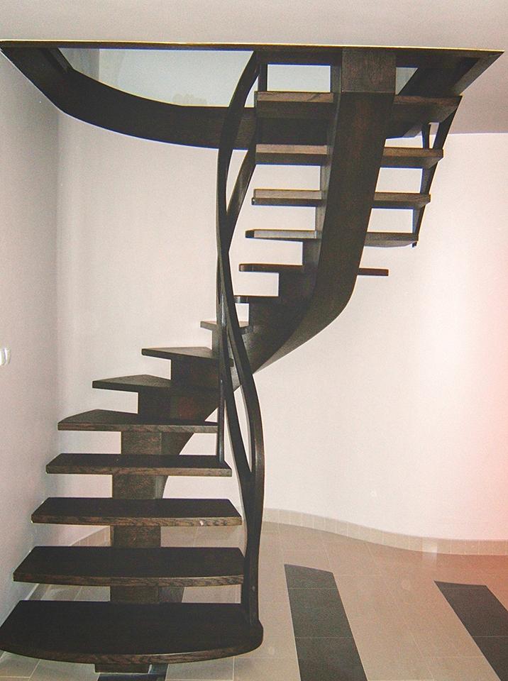 19 schody drewniane GIĘTE SCHODUS