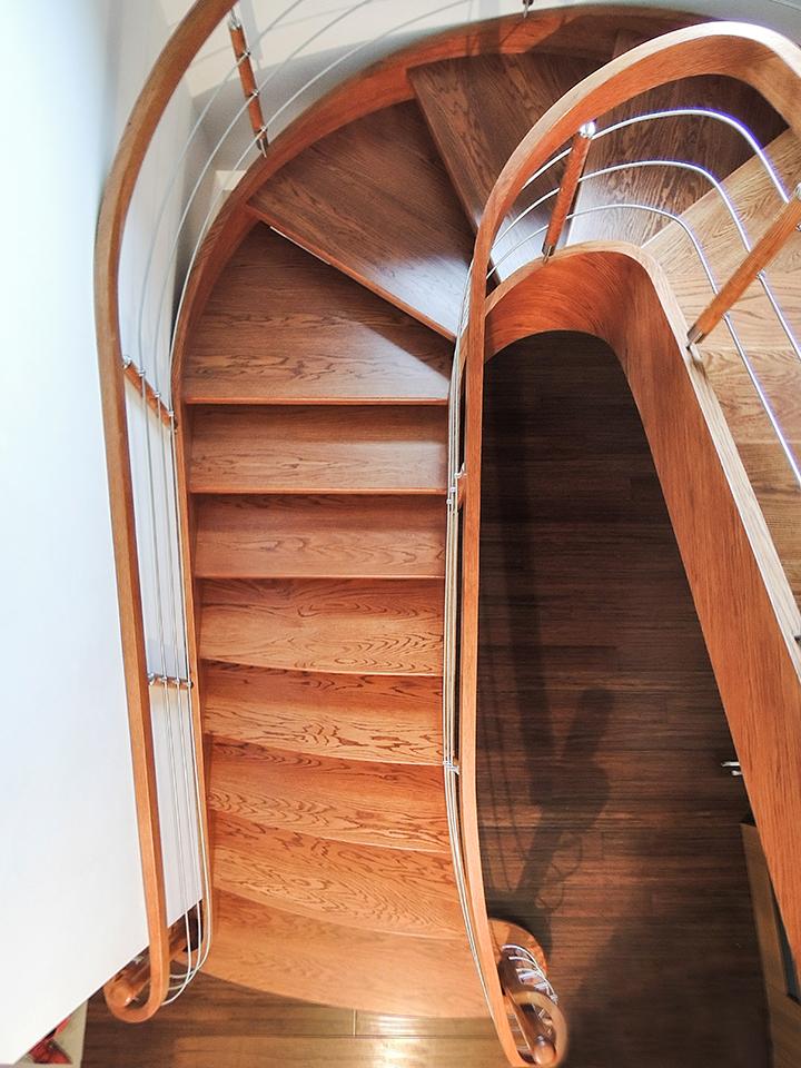 29 schody drewniane GIĘTE SCHODUS
