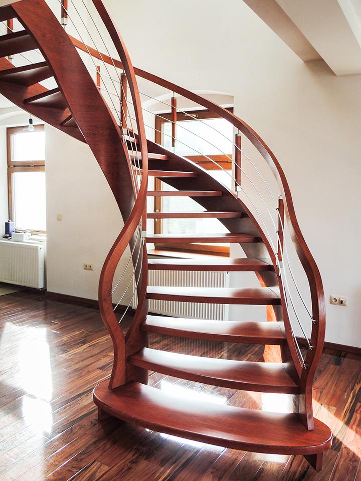 69 schody drewniane GIĘTE SCHODUS