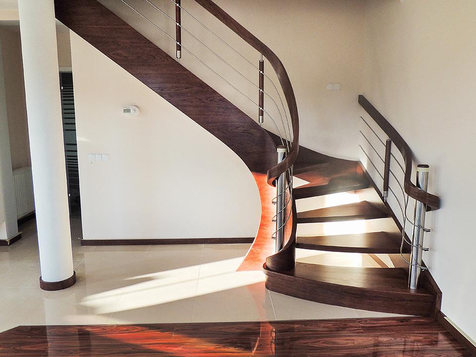 30 schody drewniane GIĘTE SCHODUS