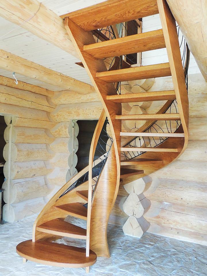 40 schody drewniane GIĘTE SCHODUS