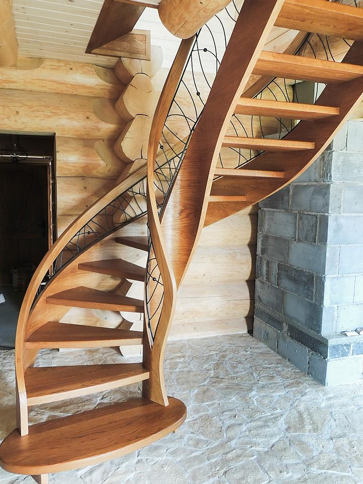 38 schody drewniane GIĘTE SCHODUS