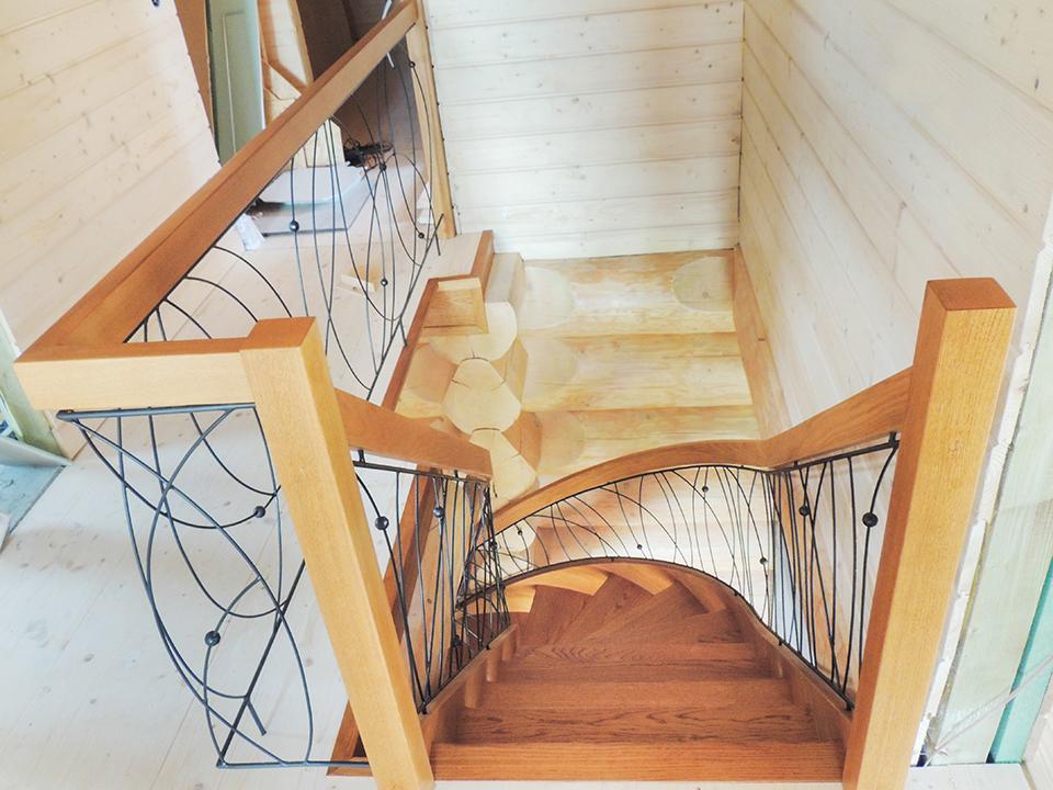 39 schody drewniane GIĘTE SCHODUS