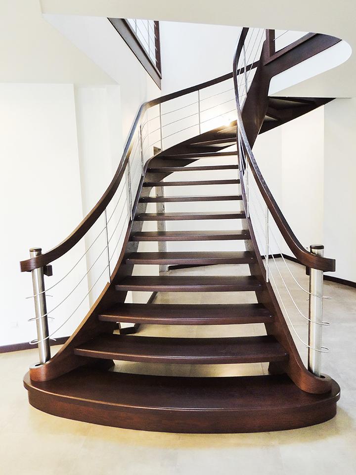 22 schody drewniane GIĘTE SCHODUS