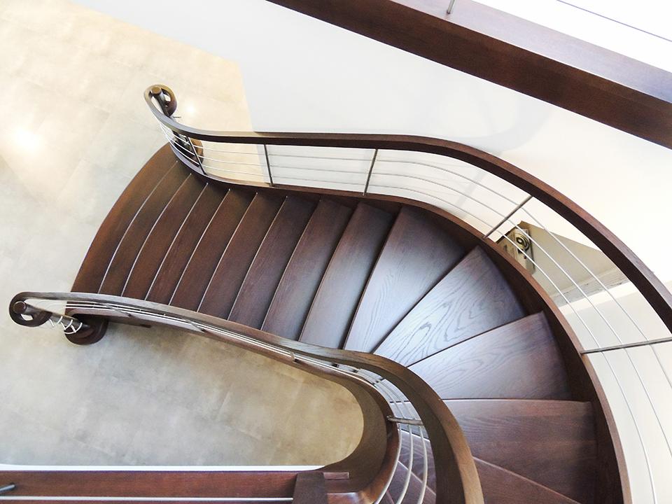 23 schody drewniane GIĘTE SCHODUS