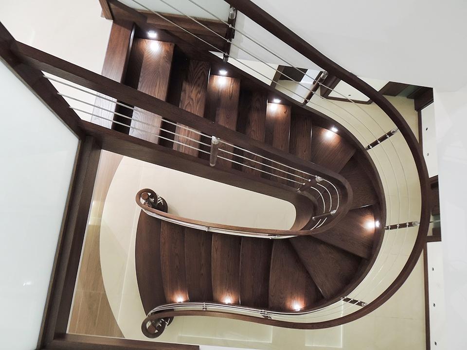 73 schody drewniane GIĘTE SCHODUS