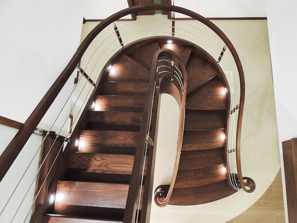 77 schody drewniane GIĘTE SCHODUS