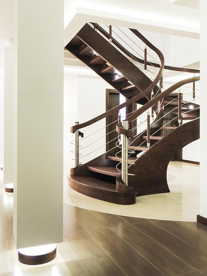 75 schody drewniane GIĘTE SCHODUS