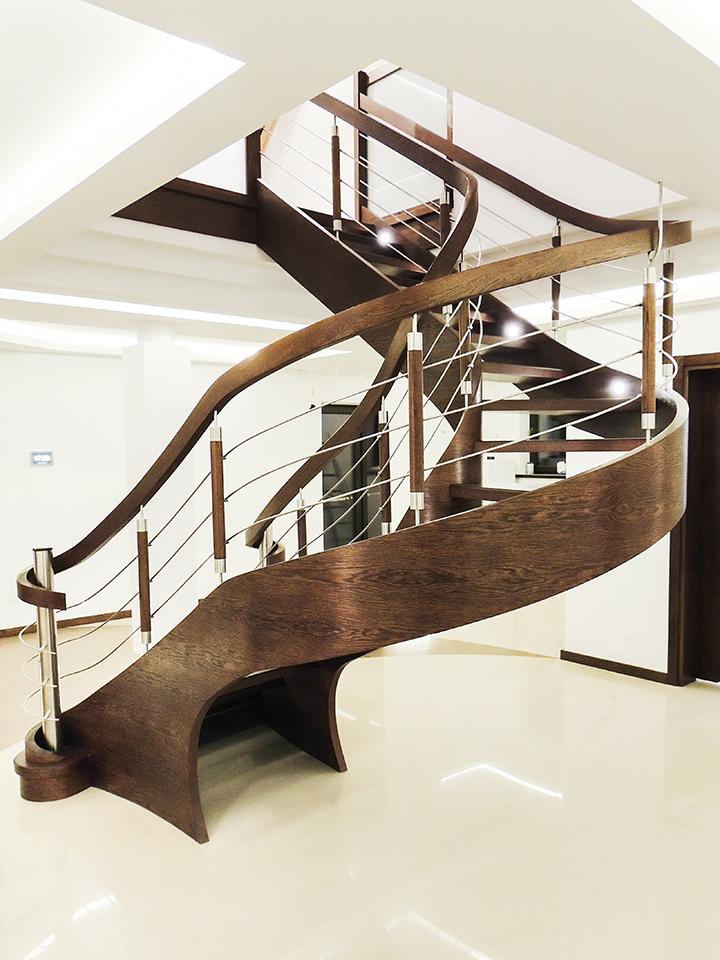 76 schody drewniane GIĘTE SCHODUS