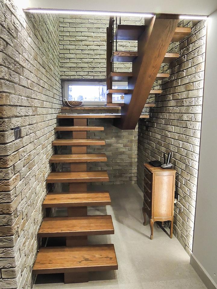 17 schody drewniane WOLNOSTOJĄCE