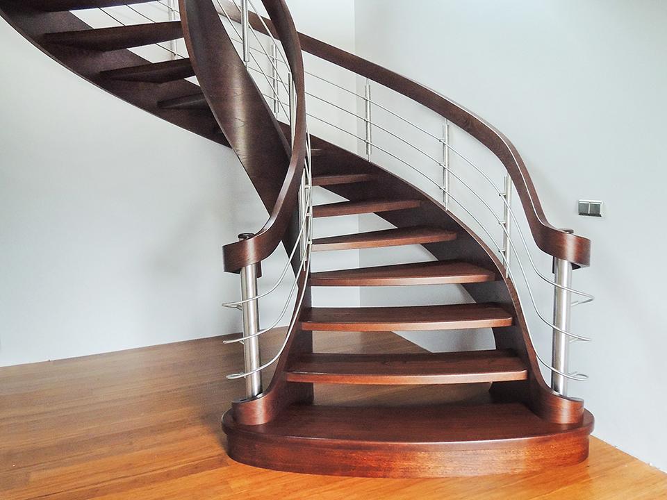 41 schody drewniane GIĘTE SCHODUS