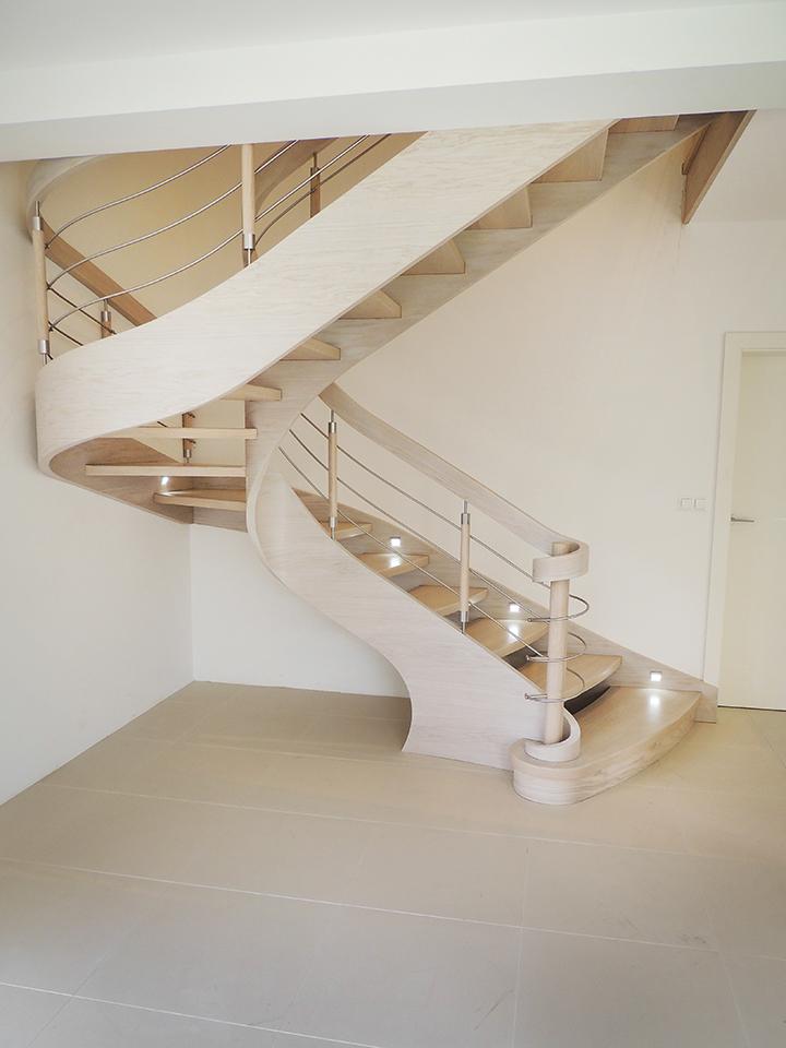 57 schody drewniane GIĘTE SCHODUS