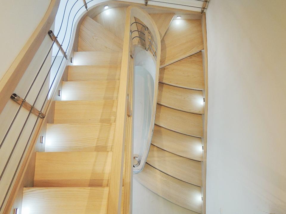 55 schody drewniane GIĘTE SCHODUS