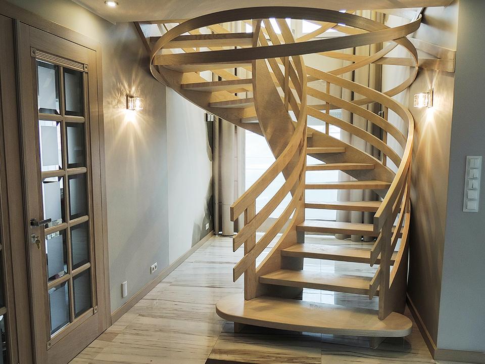63 schody drewniane GIĘTE SCHODUS