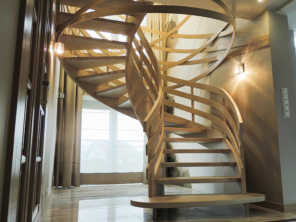 65 schody drewniane GIĘTE SCHODUS