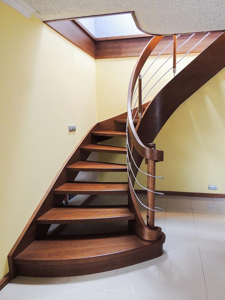52 schody drewniane GIĘTE SCHODUS