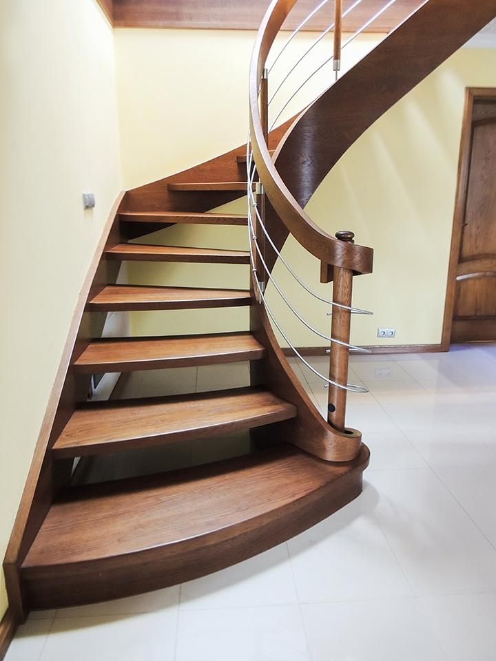 51 schody drewniane GIĘTE SCHODUS
