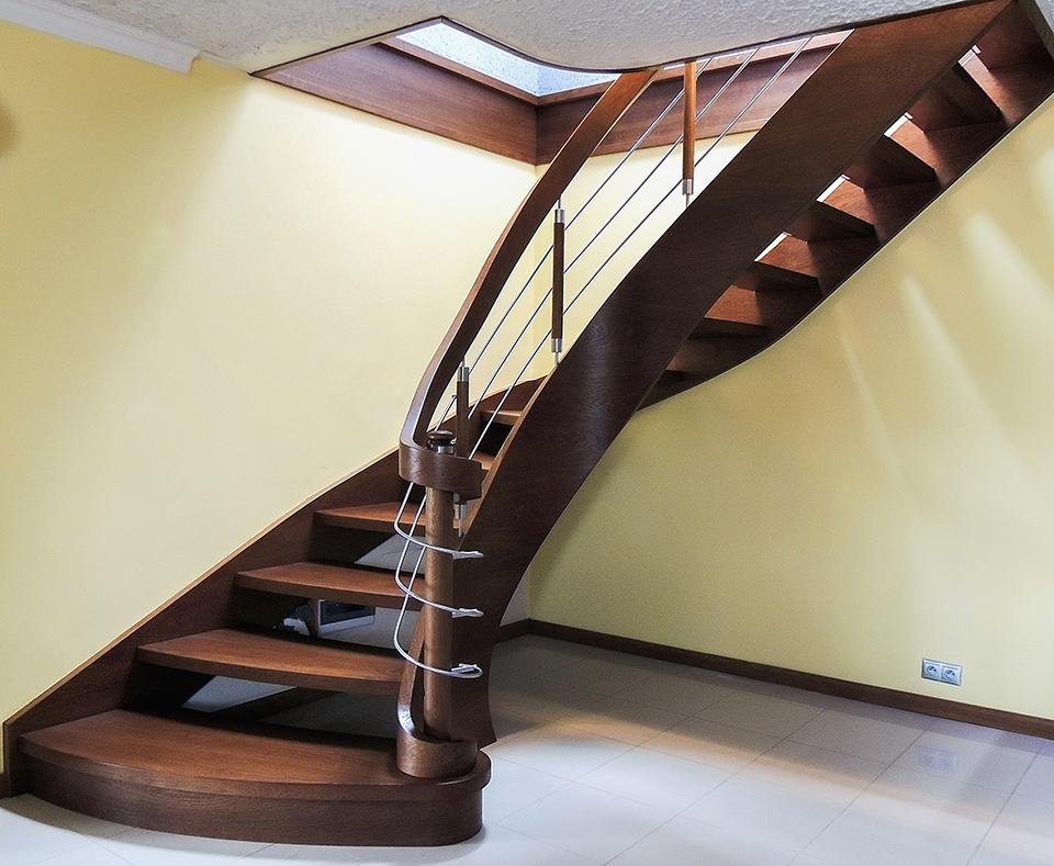 53 schody drewniane GIĘTE SCHODUS