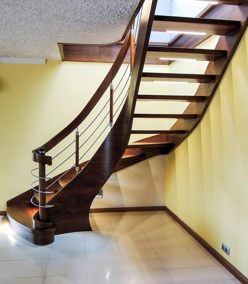 54 schody drewniane GIĘTE SCHODUS
