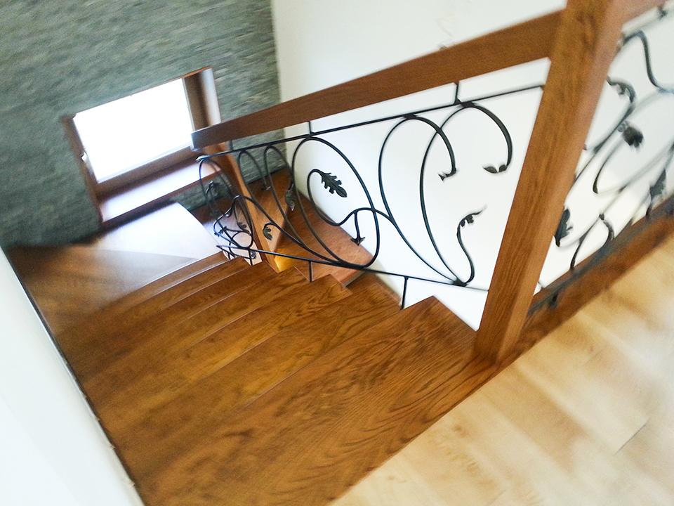 48 schody drewniane GIĘTE SCHODUS
